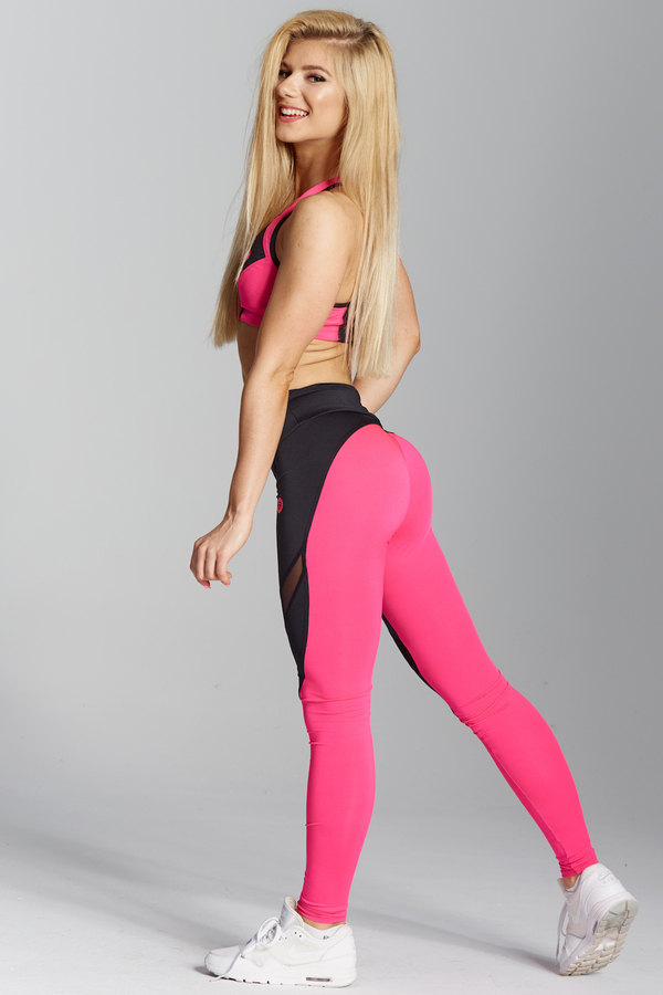 Gym Glamour Legíny Pink Fluo, XS - 4