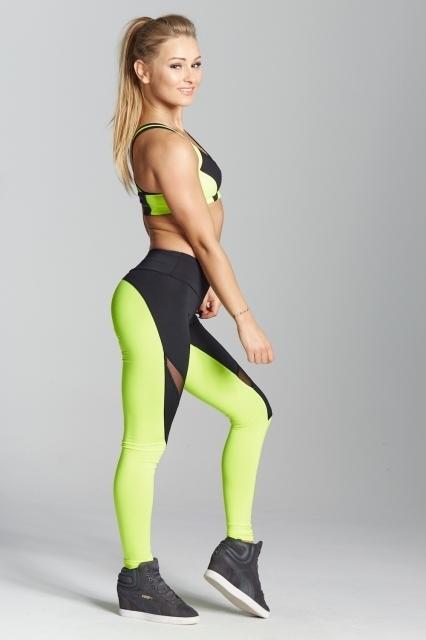 Gym Glamour Legíny Green Fluo, L - 4