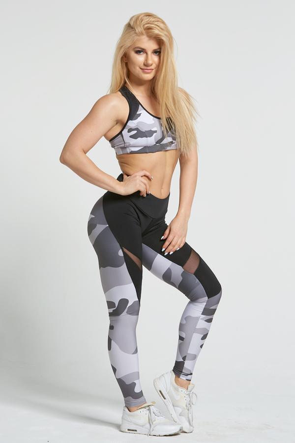 Gym Glamour Legíny Grey Moro, M - 4