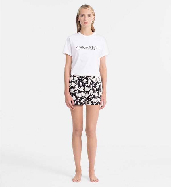 Calvin Klein Logo Dámské Tričko Bílé, S - 4
