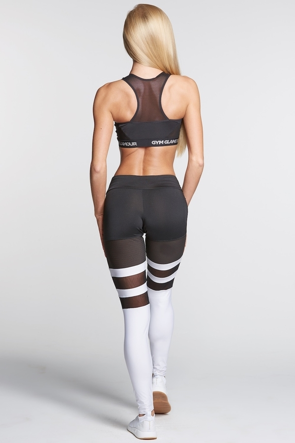 Legíny Gym Glamour Mesh And White Socks - 4