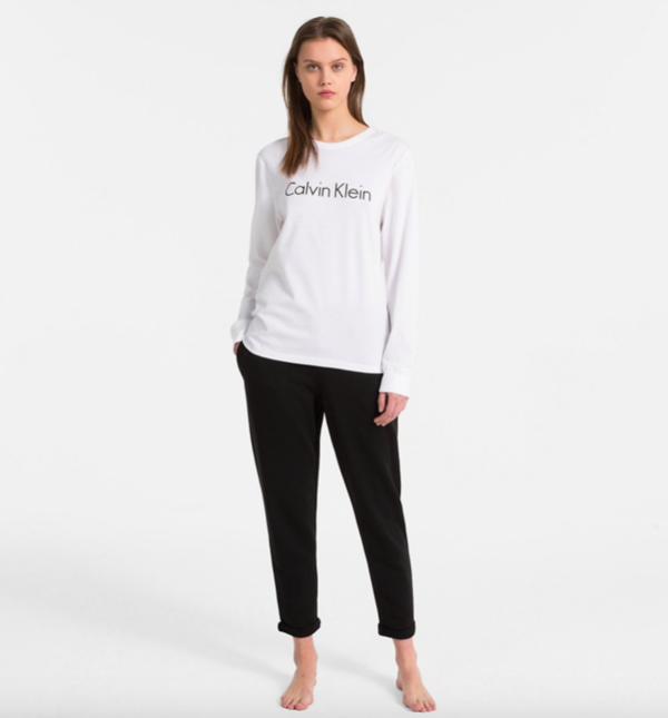 Calvin Klein Tričko Logo White, S - 4