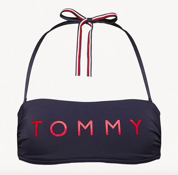 Tommy Hilfiger Plavky Essential Bandeau Navy Vrchní Díl, M - 4