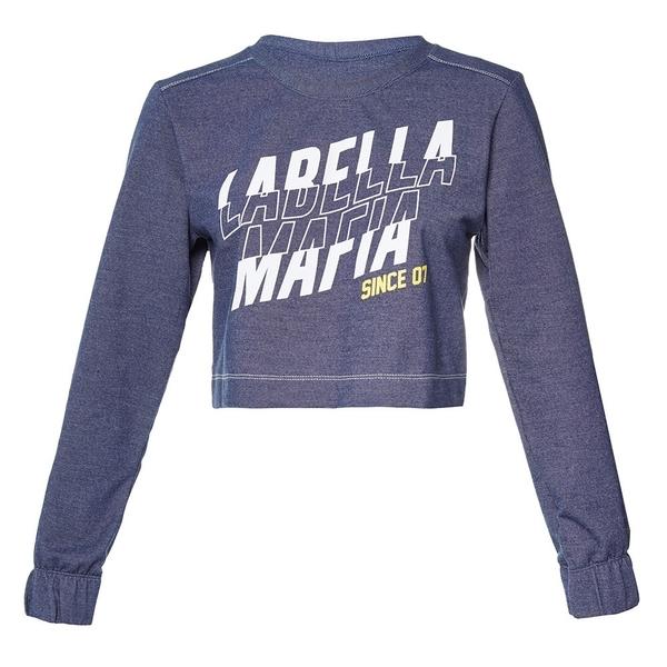 Labella Crop-Top Mikina Dark Blue, S - 4