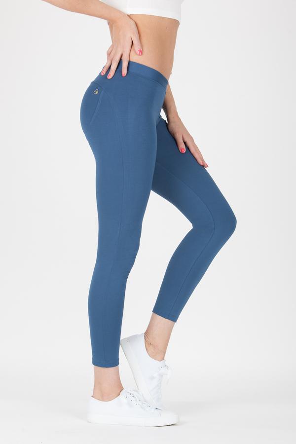 GoldBee Kalhoty BeUp Denim Blue, XS - 4