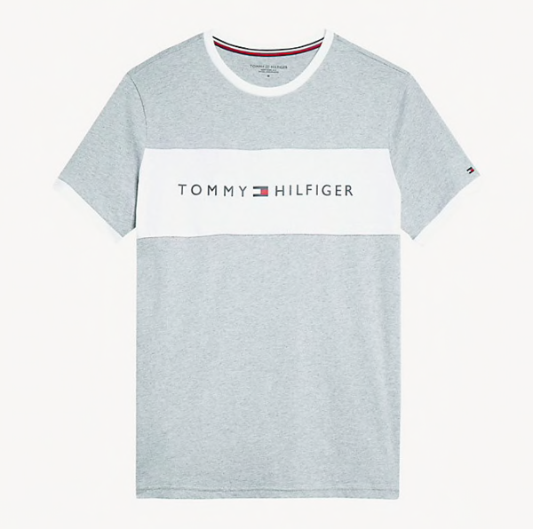 Tommy Hilfiger Tričko Flag Logo Šedé, S - 4