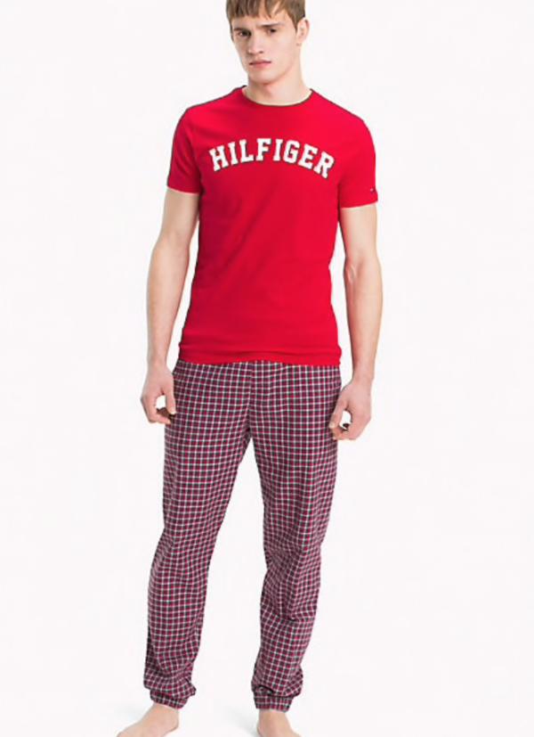 Tommy Hilfiger Pánské Tričko Iconic Red - 4