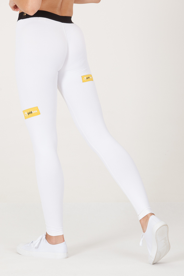 Goldbee Legíny BeSticker Outside White, XS - 4