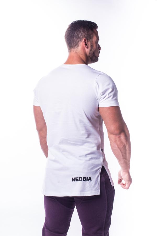 Nebbia Tričko 730 Atheltic Logo Bílé - 4
