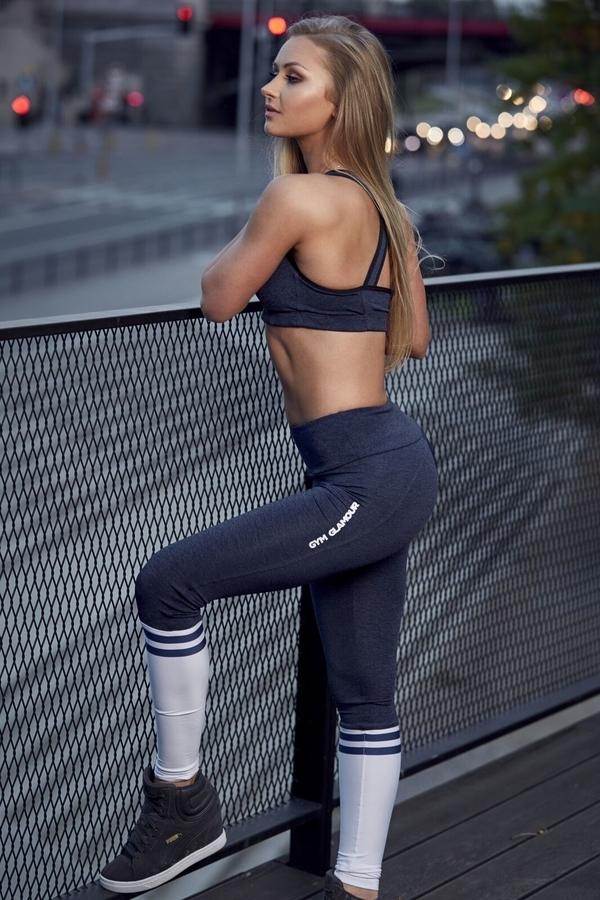 Gym Glamour Legíny Blue Melange & Socks - 5