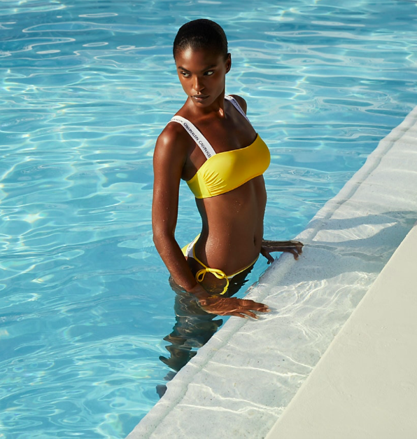 Calvin Klein Plavky CK Logo Yellow Spodní Díl, M - 5