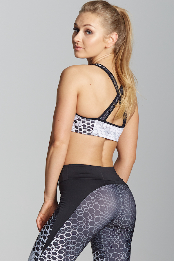 Gym Glamour Podprsenka White Honey Combs, XS - 5