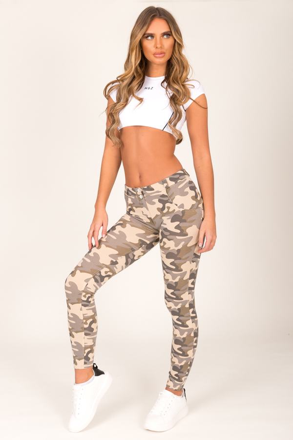 Hugz Camo Light Low Waist Jegging, L - 5