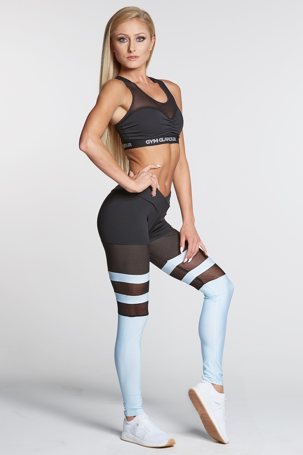 Gym Glamour Legíny Mesh And Blue Socks, S - 5