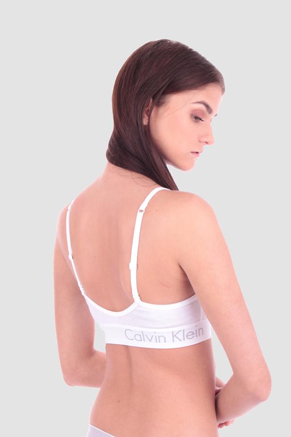 Calvin Klein Podprsenka Bralette Body Bílá, S - 5