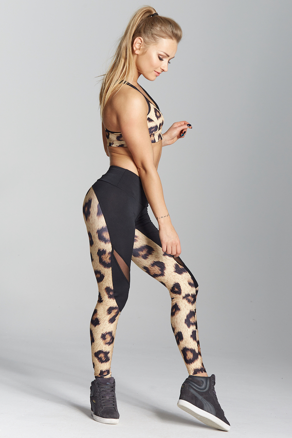 Gym Glamour Legíny Leopard, XS - 5