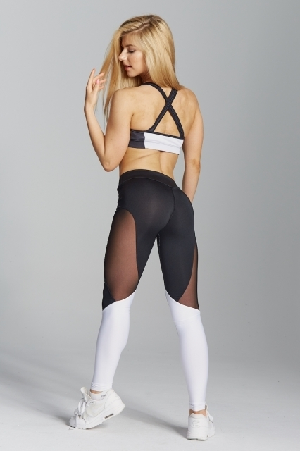 Gym Glamour Legíny Black&White, XS - 5