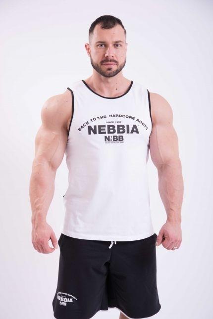 Nebbia Tílko Hardcore S Lemováním 395 Bílé, XXL - 5