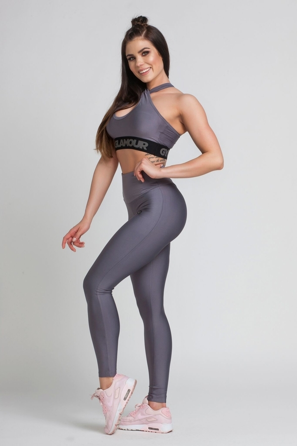 Legíny Gym Glamour High Waist Granite, M - 5