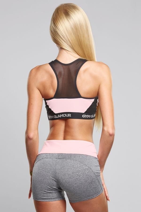 Gym Glamour Kraťásky Grey & Pink - 5