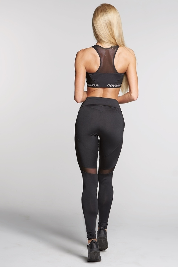 Gym Glamour Legíny Full Black Heart, L - 5