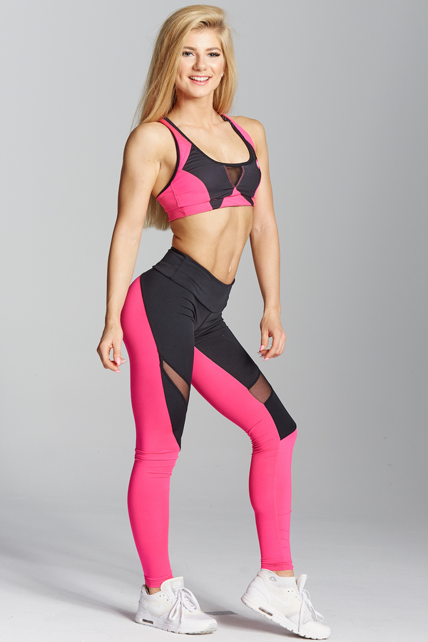 Gym Glamour Legíny Pink Fluo, XS - 5