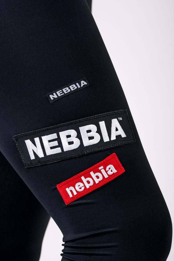 Nebbia Legíny 504 High Waist Labels - Černé, L - 5