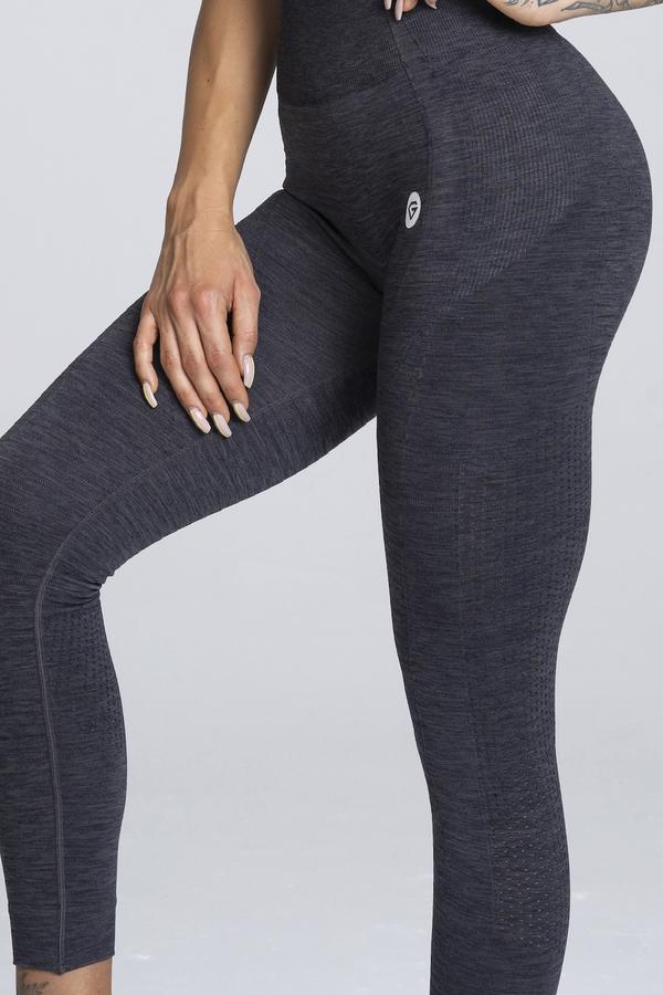 Gym Glamour Legíny Bezešvé Grey Melange, M - 5