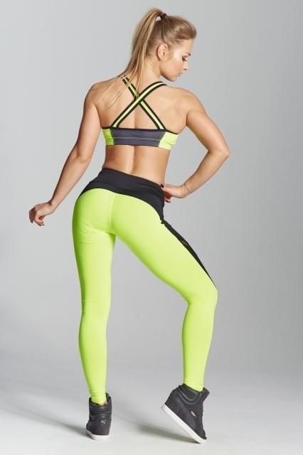 Gym Glamour Legíny Green Fluo, L - 5