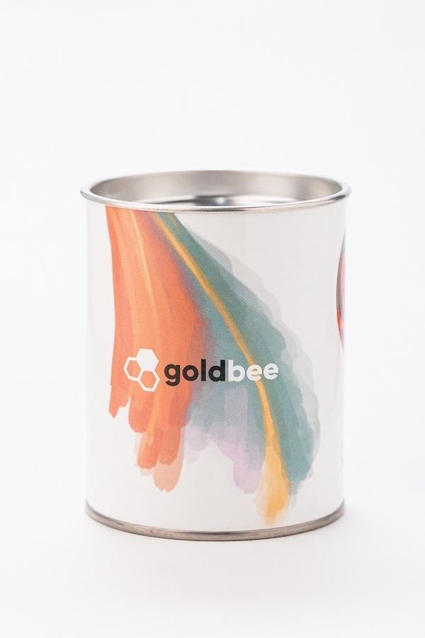 GoldBee Bavlněná Odporová Guma White, L - 5