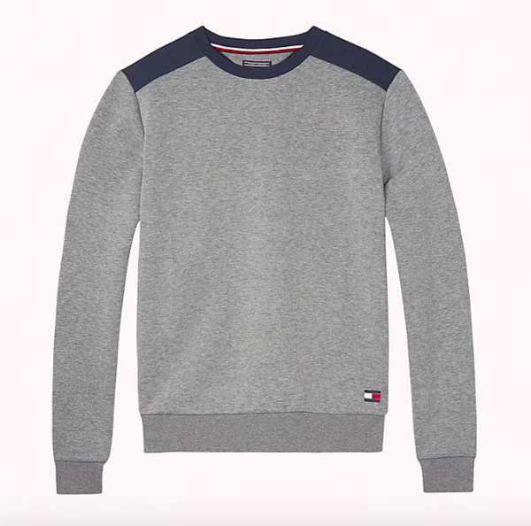 Tommy Hilfiger Mikina Colour Blocked Grey, M - 5