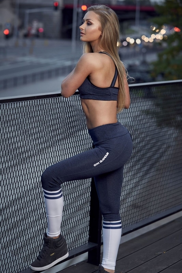 Gym Glamour Legíny Blue Melange & Socks - 6