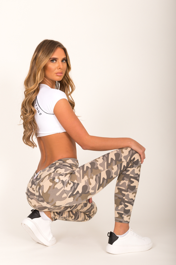 Hugz Camo Light Low Waist Jegging, L - 6
