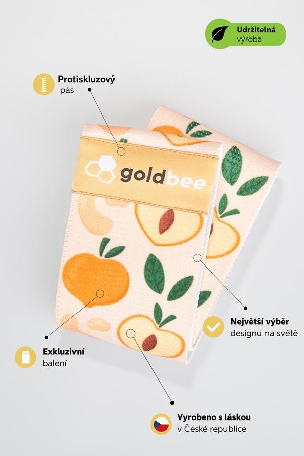GoldBee Posilovací guma BeBooty Peach, L - 6