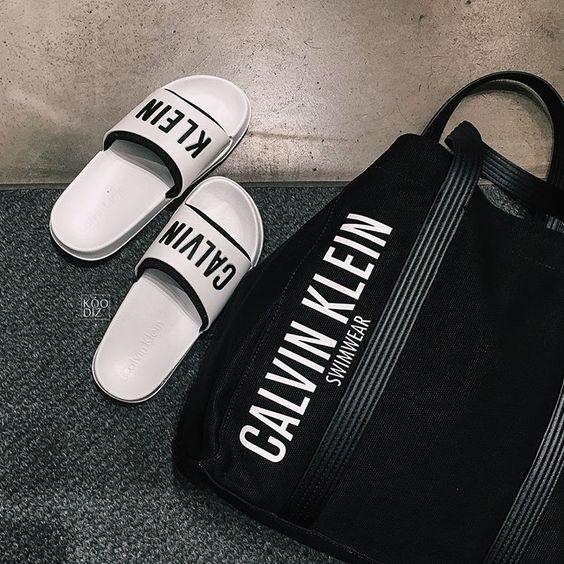 Calvin Klein Pantofle White - 6
