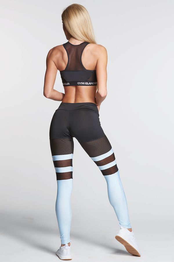 Gym Glamour Legíny Mesh And Blue Socks, S - 6