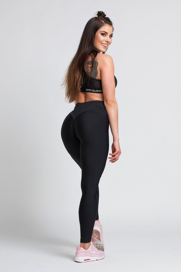 Gym Glamour Legíny Black, XS - 6