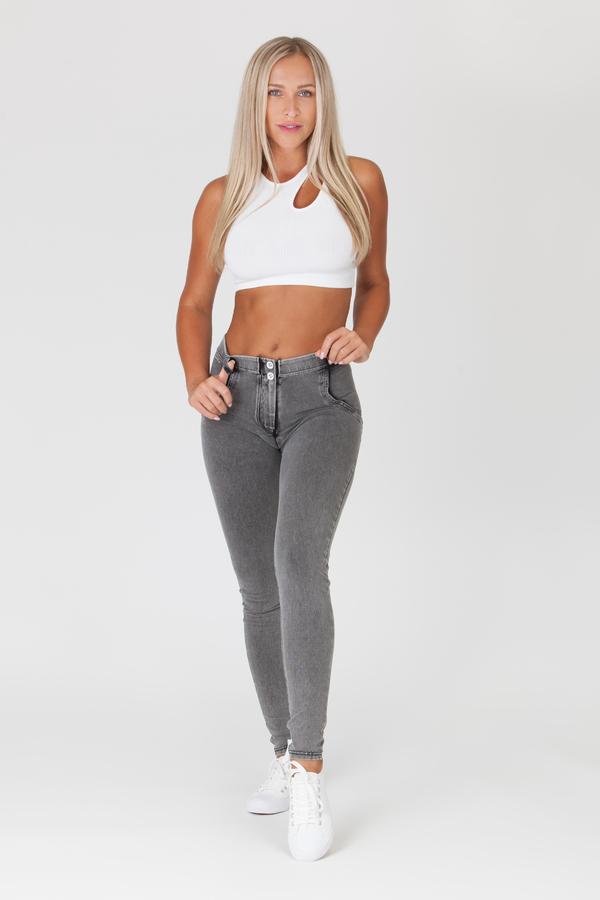Boost Jeans Mid Waist Grey, M - 6
