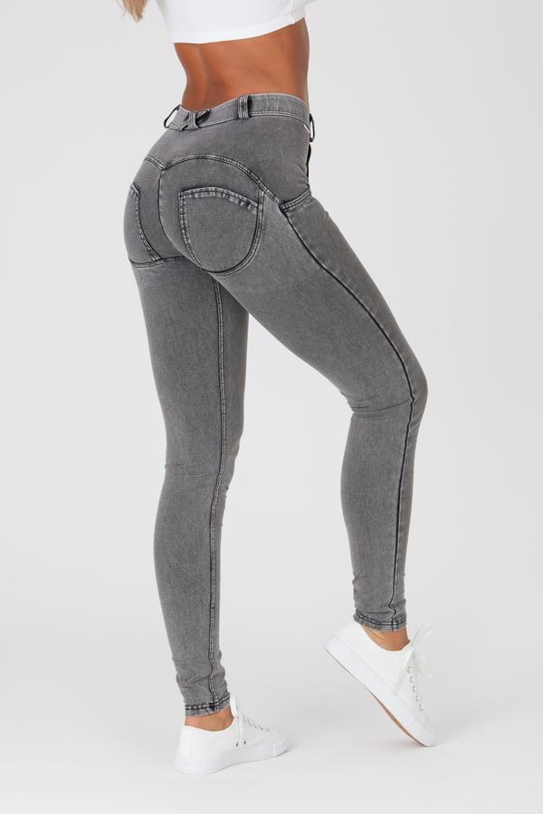 Boost Jeans Mid Waist Grey - 6