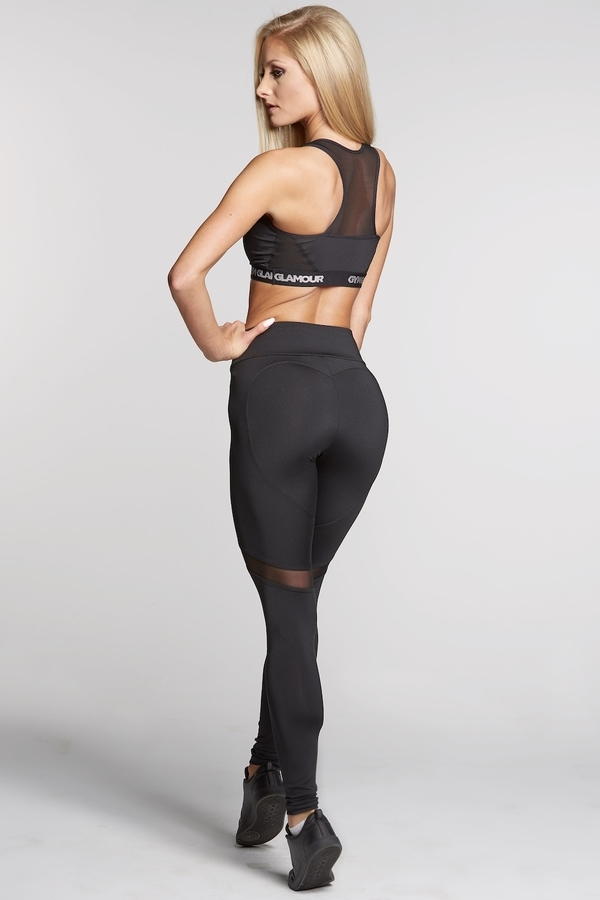 Gym Glamour Legíny Full Black Heart, L - 6