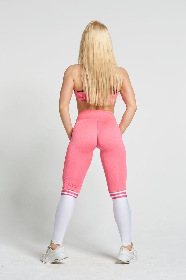 Gym Glamour Legíny Pink & White Socks, S - 6