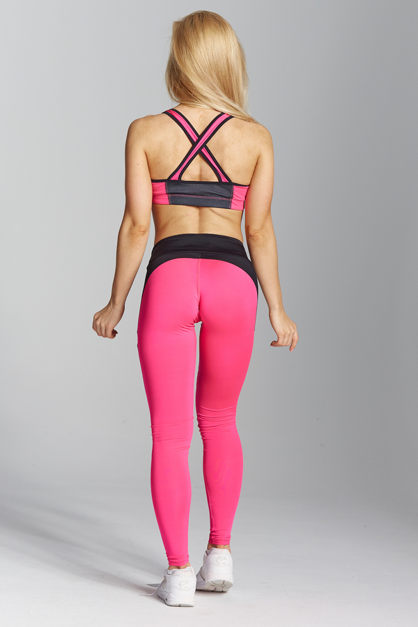 Gym Glamour Legíny Pink Fluo, XS - 6