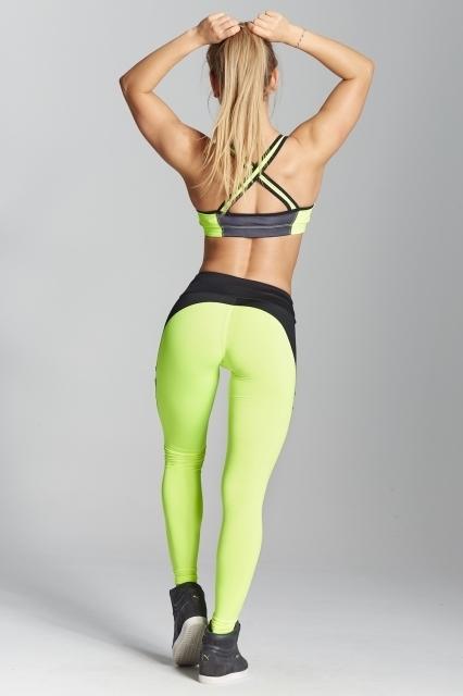 Gym Glamour Legíny Green Fluo, L - 6