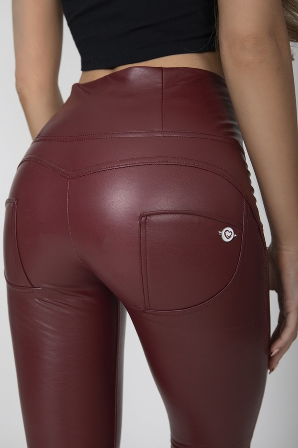 Hugz Wine Faux Leather High Waist, XL - 6