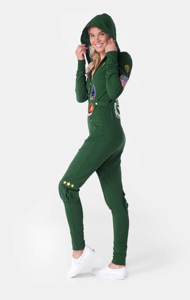 OnePiece Aviator Onesie Jungle Green, XL - 6