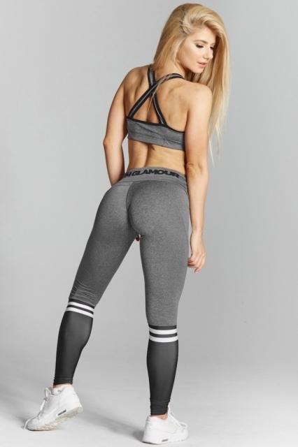Gym Glamour Legíny Grey & Black Socks - 7
