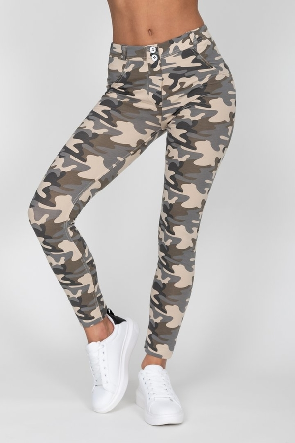 Hugz Camo Light Mid Waist Jegging, M - 7