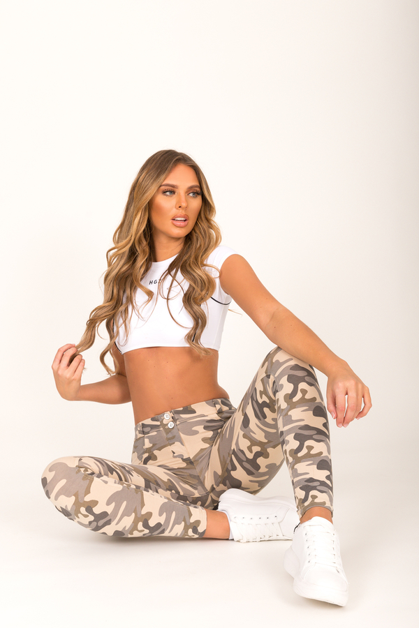 Hugz Camo Light Low Waist Jegging, L - 7