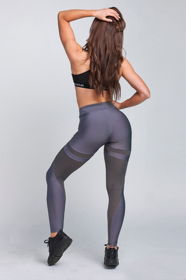 Gym Glamour Legíny Granite Grey Mesh, XS - 7