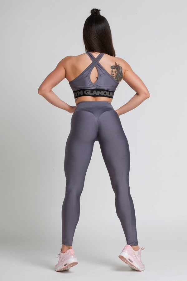 Gym Glamour Legíny High Waist Granite, M - 7